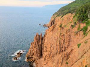 Felsen bei Pleasant Bay - unsere Schlafplatzaussicht