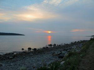 Spaziergang zum Sonnenuntergang