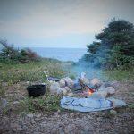 Lagerfeuer mit Aussicht - unser Standplatz am Cape St. George
