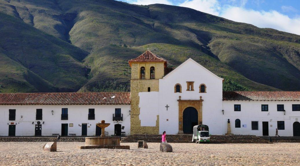 Kirche und Dorfplatz, Villa de Leyva, Kolumbien