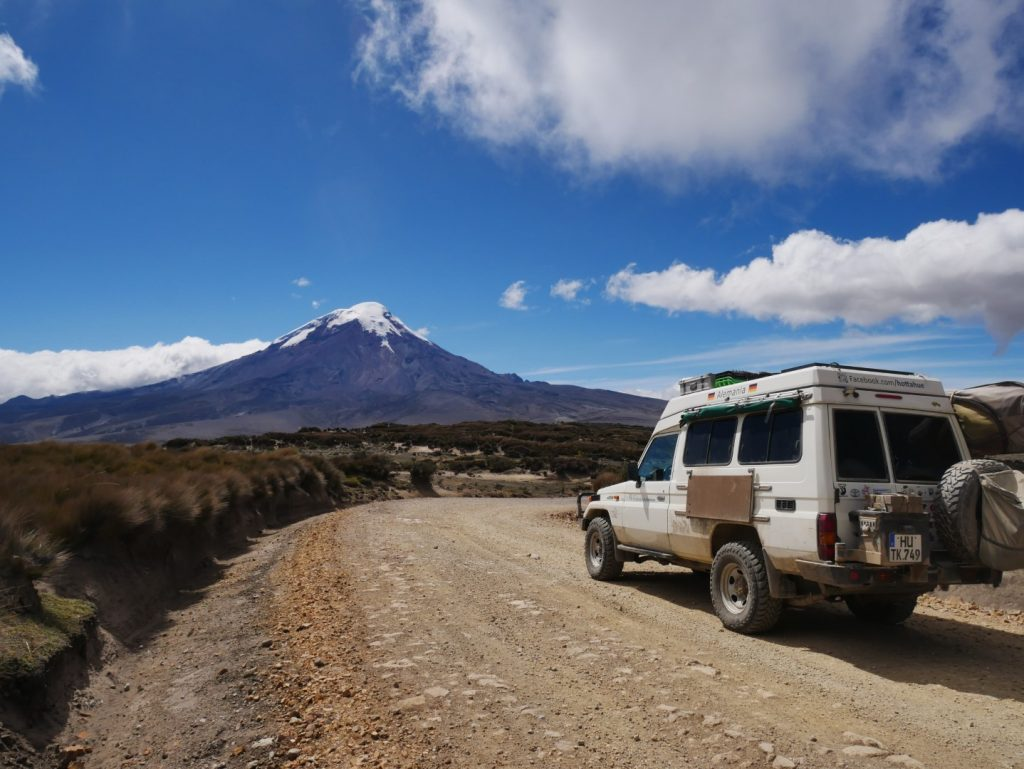 Unterwegs im Hochland, der Vulkan Chimborazo ist der höchste Berg in Ecuador