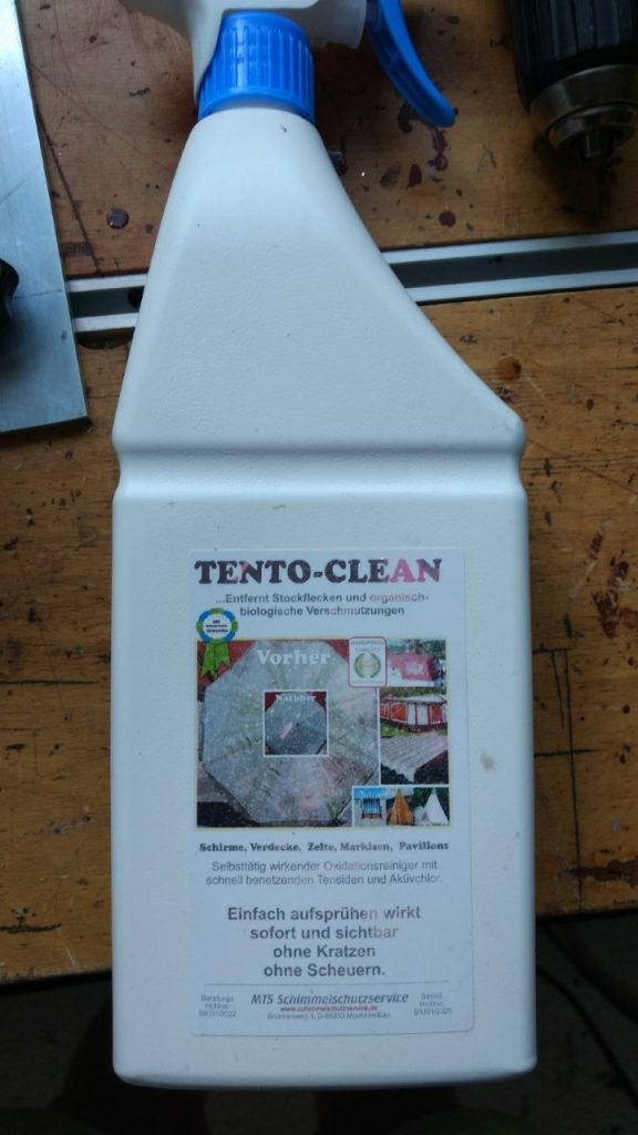 Tento Clean - beseitigt die hässlichen Stockflecken im Klappdach